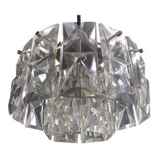 Vintage Midcentury Modern Glass Hanger For Sale
