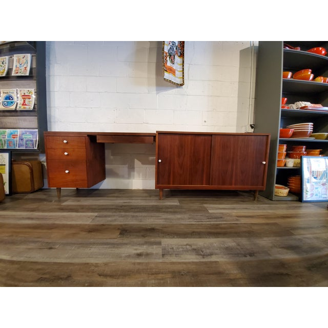 Mid-Century Modern Desk & Credenza - A Pair For Sale - Image 13 of 13