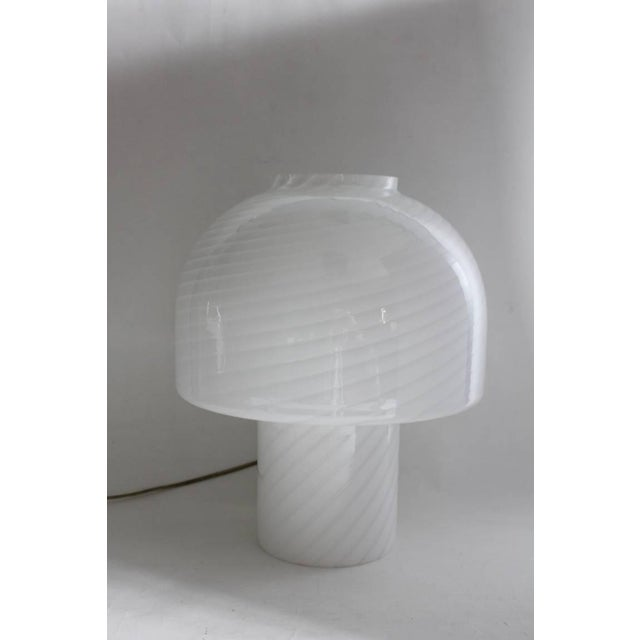 Large Murano Mushroom table lamp by Vistosi. In working condition.