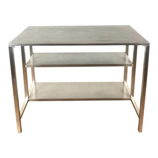 Contemporary Brushed Metal Desk