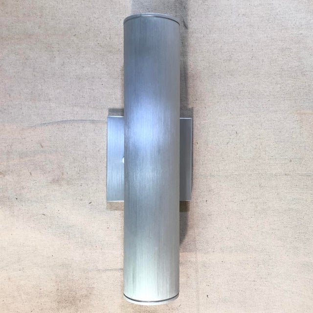 Minka Skyline Outdoor Wall Light in Brushed Aluminum For Sale In Washington DC - Image 6 of 11
