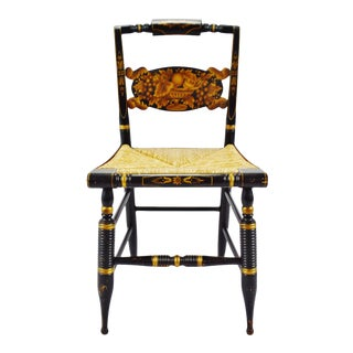Vintage Hitchcock Rush Seat Side Chair For Sale