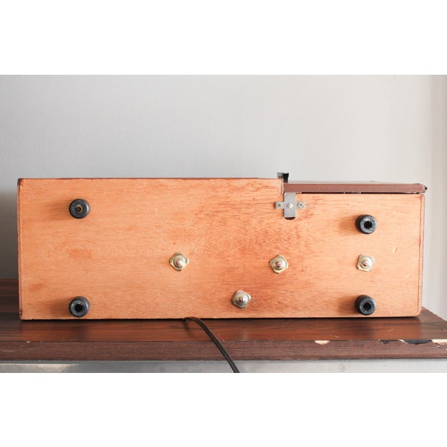Vintage Panasonic Solid State Amfm Transistor Radio Model #Re-7487 With Refinished Teak Cabinet For Sale - Image 9 of 10