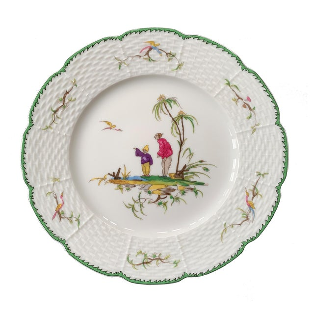 """Limoges, France Raynaud Chinoiserie Dessert Plates in """"Si Kiang"""" Pattern - Set of 5 For Sale - Image 4 of 10"""