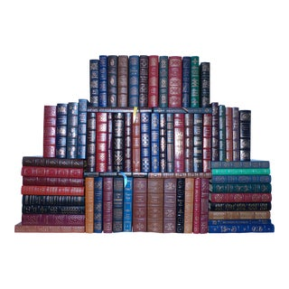 1980s Vintage Leather Books, Easton Press Collection - Set of 68 For Sale