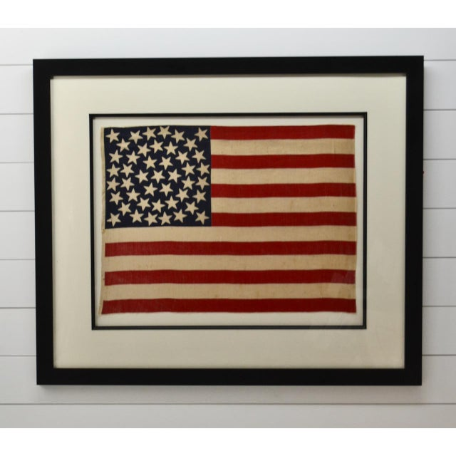 Rare antique 45 Star American Flag with very rare star arrangement call a medallion. Most medallions however have a large...