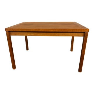 Compact Teak Draw Leaf Dining Table For Sale