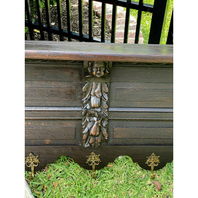 Antique French Wall Shelf Cherub Plate Rack Hat/Coat Rack For Sale - Image 9 of 12