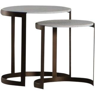 Contemporary Erdos + Ko Rockford Nesting Tables - Set of 2 For Sale