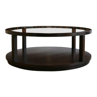 Mid-Century Modern Edward Wormley for Dunbar Furniture Mahogany and Glass Coffee Table