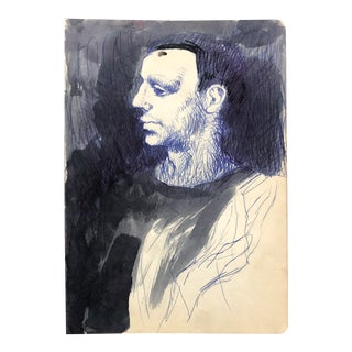 Mid-Century Modern Portrait of a Man 1961 For Sale