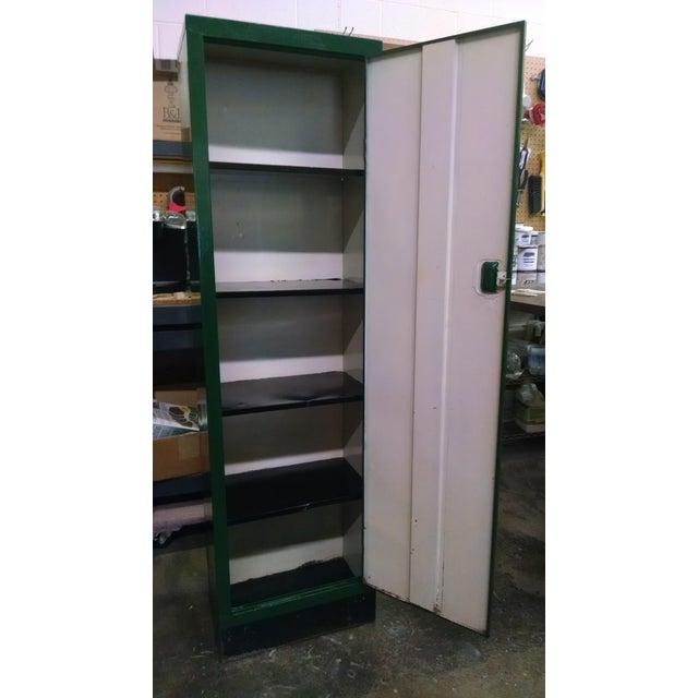 Industrial Vintage Metal Industrial Storage Locker For Sale - Image 3 of 8