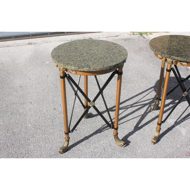 1920s French Neoclassical Bronze Side Tables - a Pair For Sale - Image 12 of 13