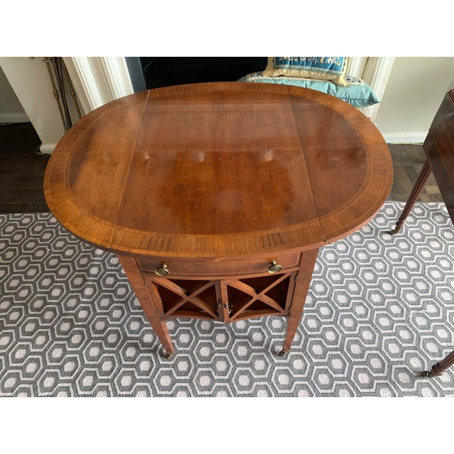 Pair of Federal Style Drop Leaf Side Tables For Sale In New York - Image 6 of 12
