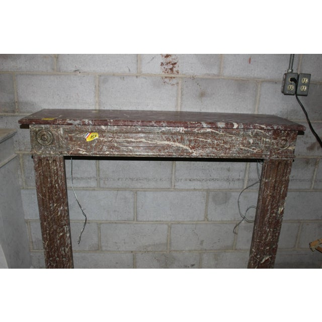 French, Louis XVI Style Marble Mantel For Sale In Dallas - Image 6 of 7
