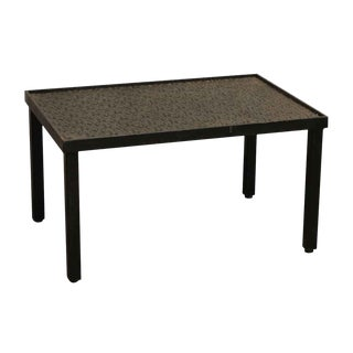 Iron Fire Back Coffee Table For Sale
