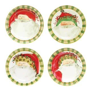 Kenneth Ludwig Chicago Old St. Nick Salad Set - Set of 4 For Sale