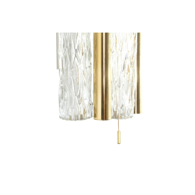 Mid 20th Century 1950s Germany Murano Glass and Brass Sconces by Doria Leuchten - a Pair For Sale - Image 5 of 8