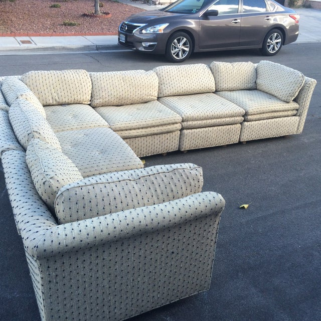 Sherrill Furniture Contemporary Six-Part Sectional - Image 6 of 10