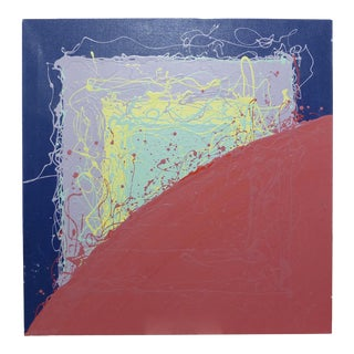 1980s Nowicki Original Abstract Drip Painting For Sale