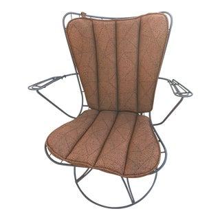 1950s Vintage Homecrest Outdoor Swivel Chair For Sale