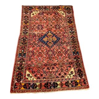 Vintage Persian Bidjar Rug-4′1″ × 6′3″ For Sale