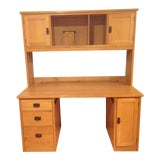 Image of Arts and Crafts Stickley Oak Executive Desk For Sale