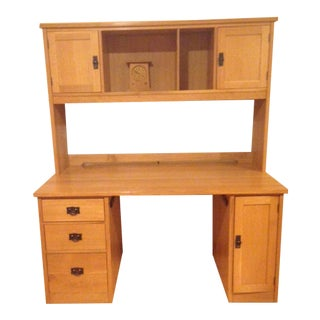 Arts and Crafts Stickley Oak Executive Desk For Sale