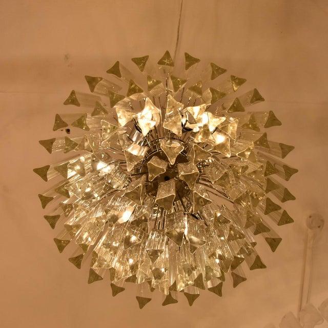 Italian Venini Triedri Chandelier - A Pair For Sale - Image 3 of 5