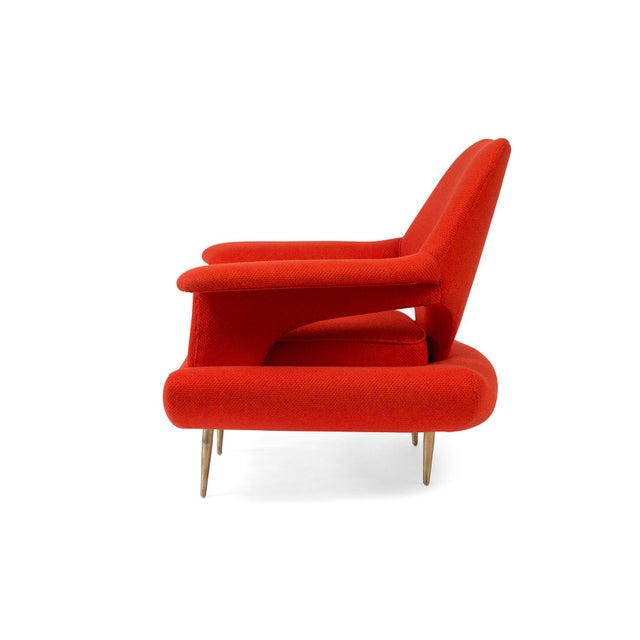 Sculptural Large Mid-Century Italian Lounge Chairs - a Pair For Sale In Phoenix - Image 6 of 10
