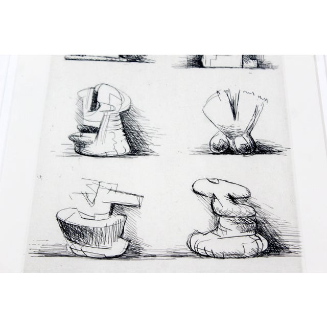Paper Mid-Century Modern Print Six Sculpture Motives Signed by Henry Moore 182/200 For Sale - Image 7 of 10