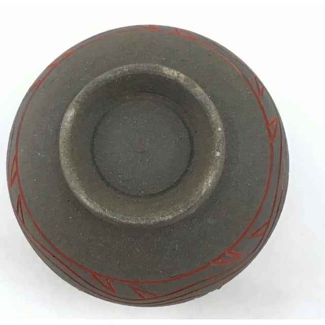 Japanese Modern Artisanal Clay Ceramic Bud Vase For Sale - Image 10 of 11