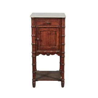 Faux Bamboo Nightstand For Sale