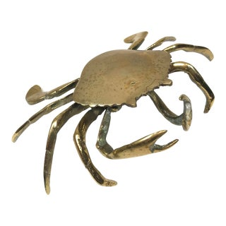 Vintage Brass Crab Ashtray For Sale