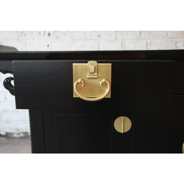 Gold Michael Taylor for Baker Far East Collection Chinoiserie Sideboard Credenza For Sale - Image 8 of 13