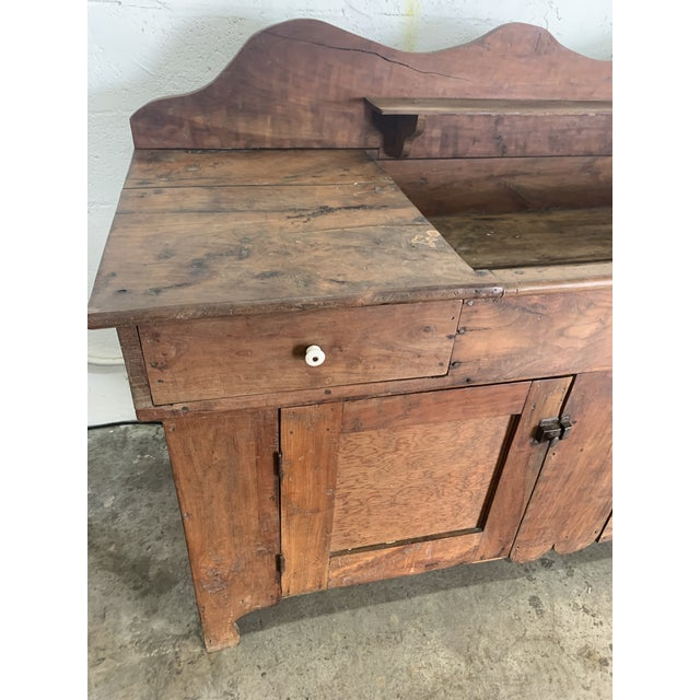 Antique Rustic Farmhouse Dry Sink For Sale In Miami - Image 6 of 9