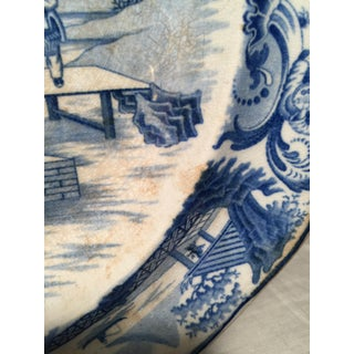 Early 19th Century Blue and White Staffordshire Large Platter Preview