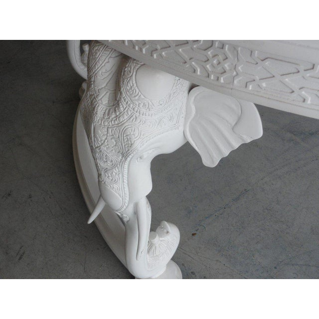 Late 20th Century Gampel Stoll Fretwork Elephant Desk For Sale - Image 5 of 13