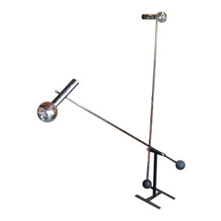 Large Pendulating Floor Lamp by Robert Sonneman For Sale