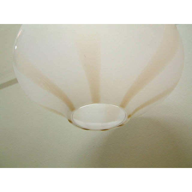 Blown Glass Vistosi Large Italian Pendant Fixture For Sale - Image 7 of 8