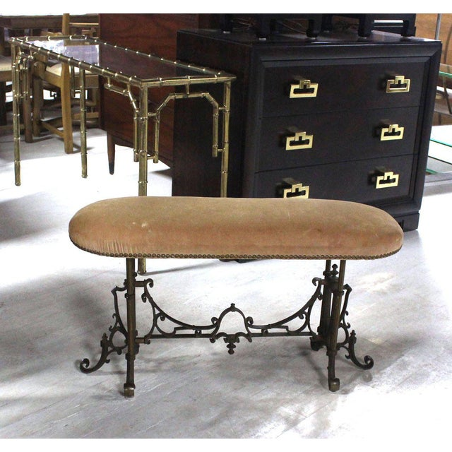 Heavy Cast Bronze Antique Piano or Hall Bench For Sale - Image 4 of 10