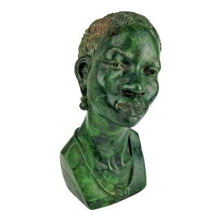 Zimbabwe Verdite Sculpture of a Woman For Sale