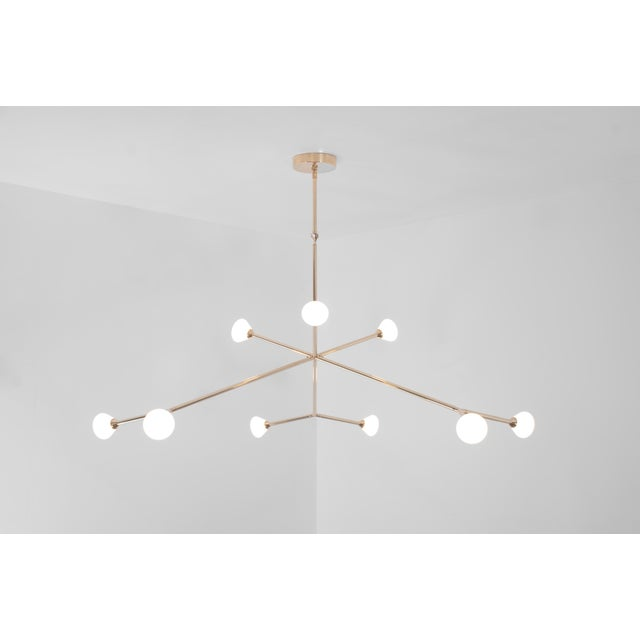 Brass Super Nova Chandelier by McKenzie & Keim For Sale - Image 7 of 13