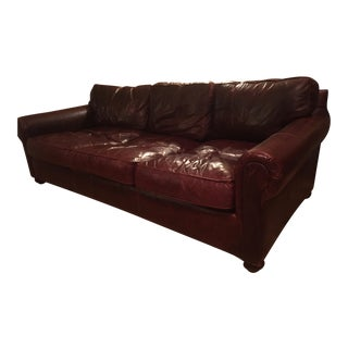 Custom Made Restoration Hardware Oxblood Lancaster Sofa