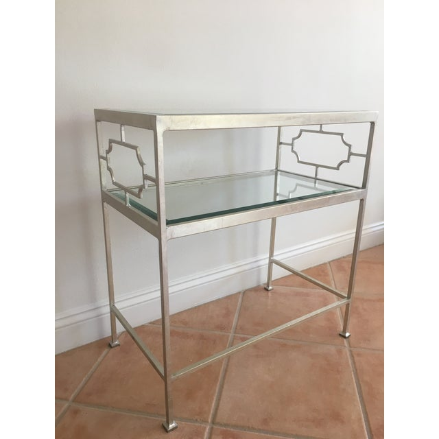 Neoclassical Worlds Away Glass Side Tables - A Pair For Sale - Image 3 of 7