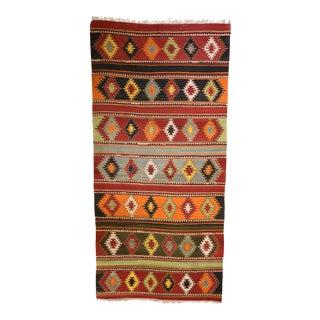 Antique Turkish Anatolian Kilim Carpet - 6′3″ × 13′1″ For Sale