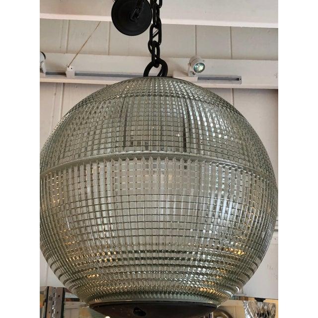 Parisian Holophane Globe Pendant Chandelier For Sale - Image 10 of 13