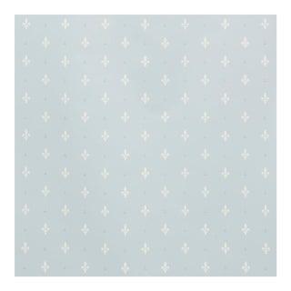 Sample - Schumacher Fleur De Lis Wallpaper in Mineral For Sale