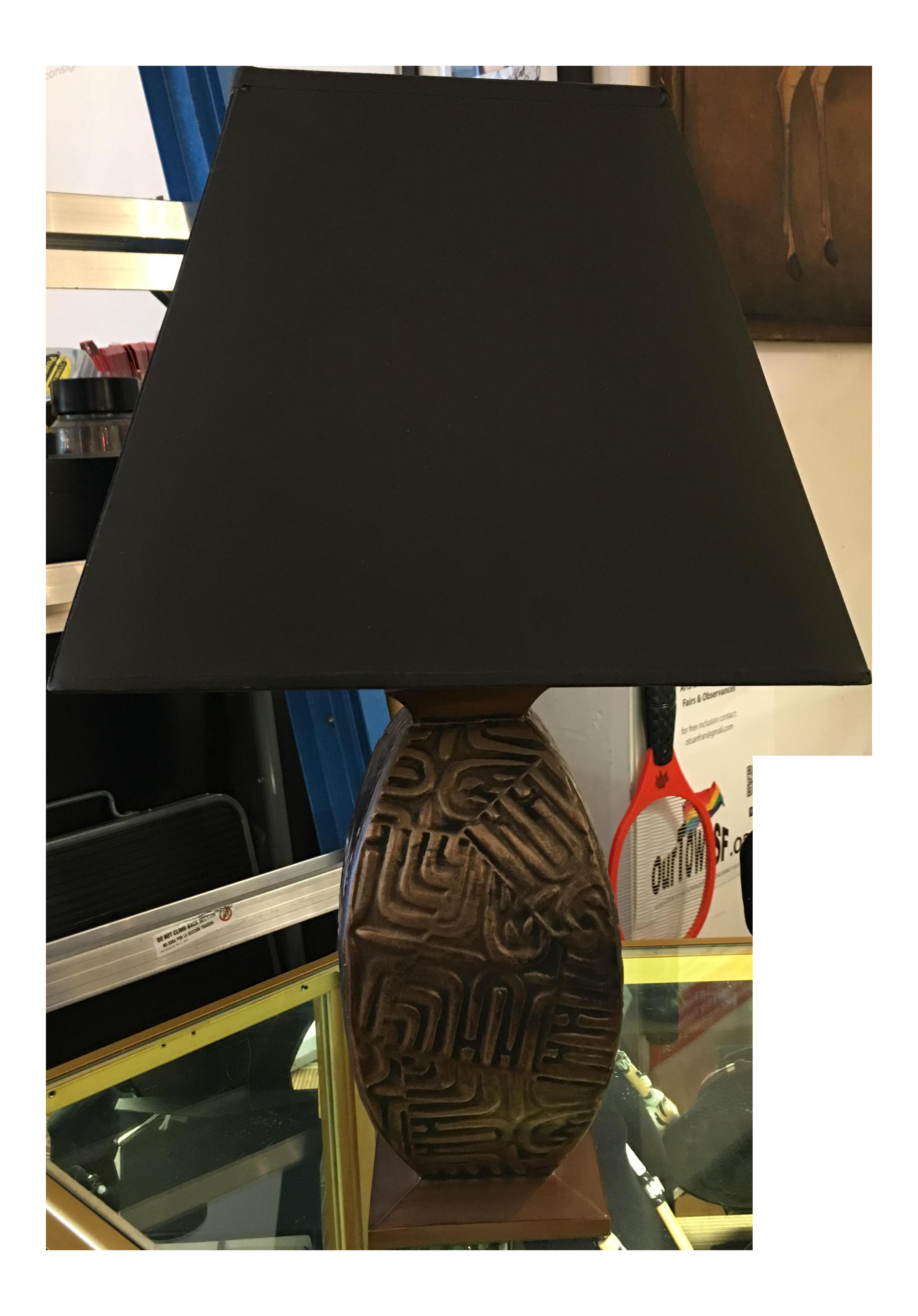 Gumps metal base table lamp