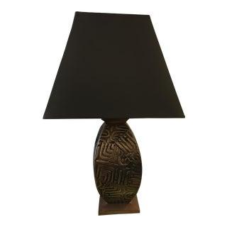 Gump's Metal Base Table Lamp